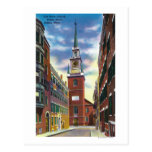Salem Street View of Old North Church Bldg Post Cards