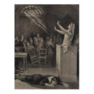 Salem Witch Trial Illustration Postcard
