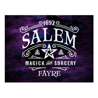 Salem Witches' 1692 Magick Fayre Postcard