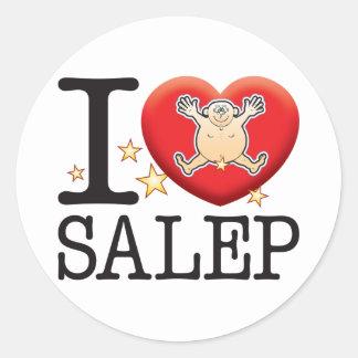 Salep Love Man Round Sticker