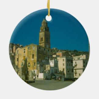 Salerno, Church and town Round Ceramic Decoration