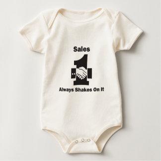 Sales Always Shakes On It Baby Bodysuit