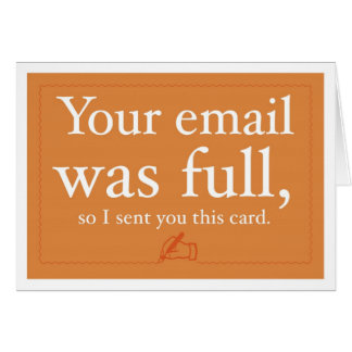 Sales and Prospecting Card - Your Email Was Full