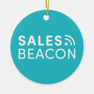 Sales Beacon - Logo - Teal large Round Ceramic Decoration