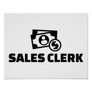 Sales clerk poster