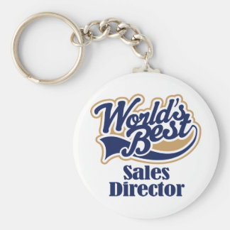 Sales Director Gift Basic Round Button Key Ring