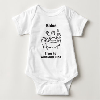 Sales Likes to Wine and Dine Baby Bodysuit