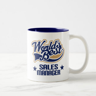 Sales Manager Gift (Worlds Best) Two-Tone Coffee Mug
