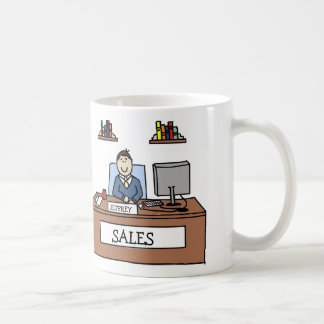 Sales professional - personalized cartoon mug