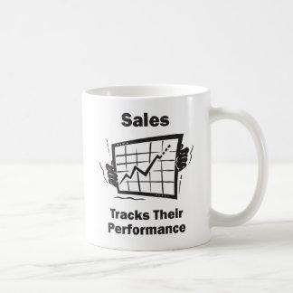 Sales Tracks Their Performance Basic White Mug