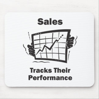 Sales Tracks Their Performance Mouse Pad