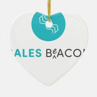 SalesBeacon - Bacon - Grey Ceramic Ornament