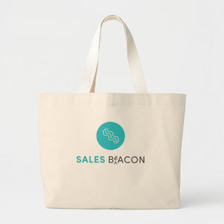 SalesBeacon - Bacon - Grey Large Tote Bag