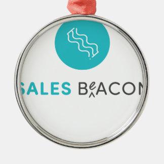 SalesBeacon - Bacon - Grey Metal Ornament