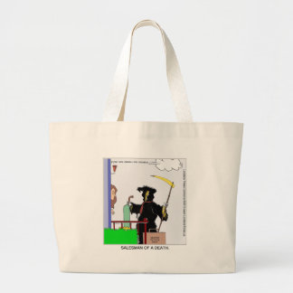 Salesman Of A Death Funny Gifts Cards Tees & Mugs Canvas Bag