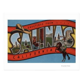 Salinas, California - Large Letter Scenes - Rode Postcard