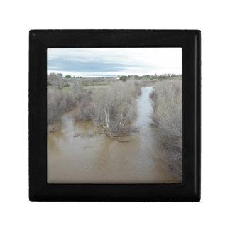 Salinas River North of Veterans Memorial Bridge Gift Box