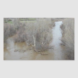Salinas River North of Veterans Memorial Bridge Rectangular Sticker