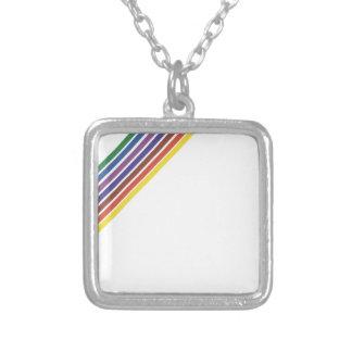 Salinger Stripe Silver Plated Necklace