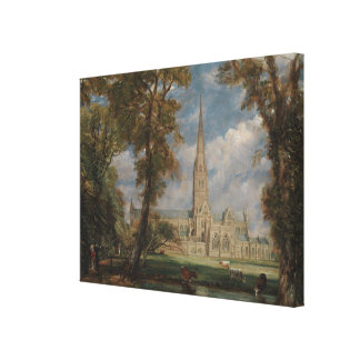 Salisbury Cathedral from the Bishop's Grounds Canvas Print