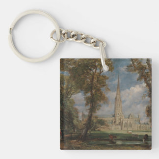 Salisbury Cathedral from the Bishop's Grounds Key Ring