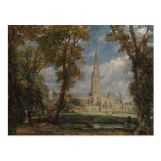 Salisbury Cathedral from the Bishop's Grounds Postcard