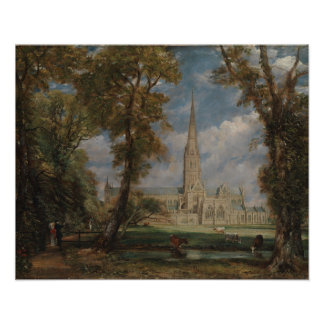 Salisbury Cathedral from the Bishop's Grounds Poster
