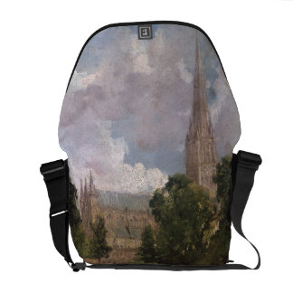 Salisbury Cathedral from the south west Courier Bag