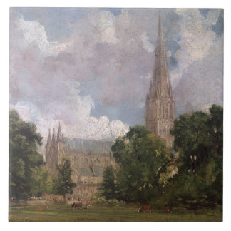 Salisbury Cathedral from the south west Large Square Tile