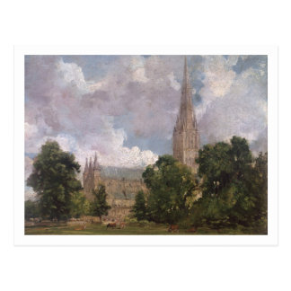 Salisbury Cathedral from the south west Postcard