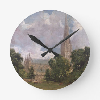 Salisbury Cathedral from the south west Wallclock