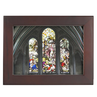 Salisbury Cathedral Transept Stained Glass Window Keepsake Box