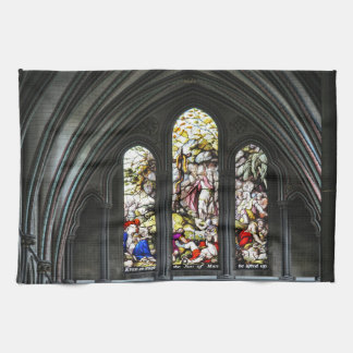 Salisbury Cathedral Transept Stained Glass Window Tea Towel
