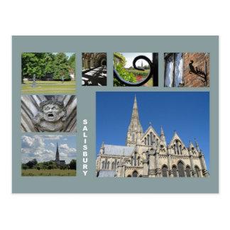 Salisbury multi-image postcard