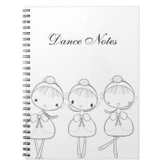 Sally Ballerina Spiral Notebook