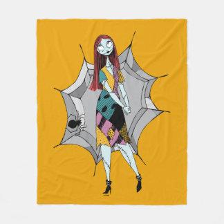 Sally in Spider Web Fleece Blanket