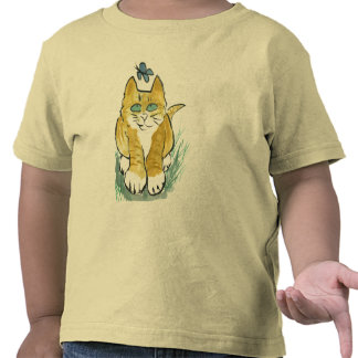 Sally, Marmalade Kitten sees a Butterfly Tee Shirts