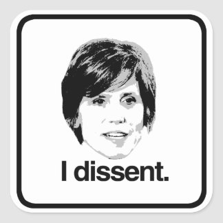 Sally Yates - I Dissent - Square Sticker
