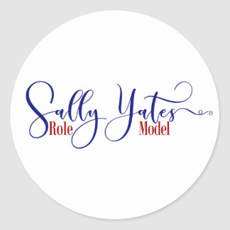 """Sally Yates Role Model"" Typography, 3 Round Sticker"