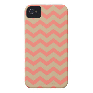 Salmon and Tan Chevron Case-Mate iPhone 4 Cases
