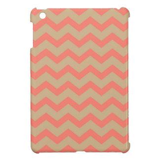 Salmon and Tan Chevron iPad Mini Cover