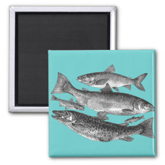 Salmon and Trout Family Magnet