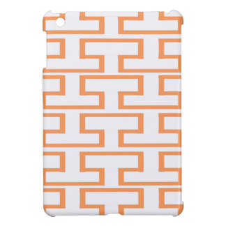 Salmon and White Bricks Case For The iPad Mini