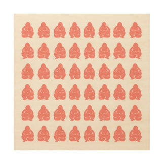Salmon Asian Moods Buddah Boys Wood Print