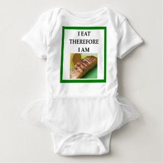 salmon baby bodysuit