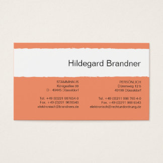 Salmon Black Professional Business Card