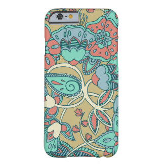 Salmon & Blue Floral Barely There iPhone 6 Case