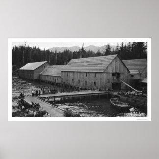 Salmon Cannery Ketchikan, Alaska 1918 Poster