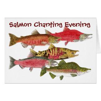 Salmon Chanting Evening Card