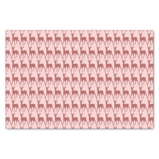 Salmon Deer Pattern Background Tissue Paper
